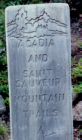 Acadia Mountain Trail Sign