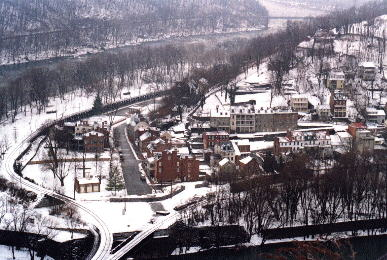 Harpers Ferry in winter