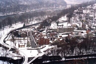 Harpers Ferry in winter