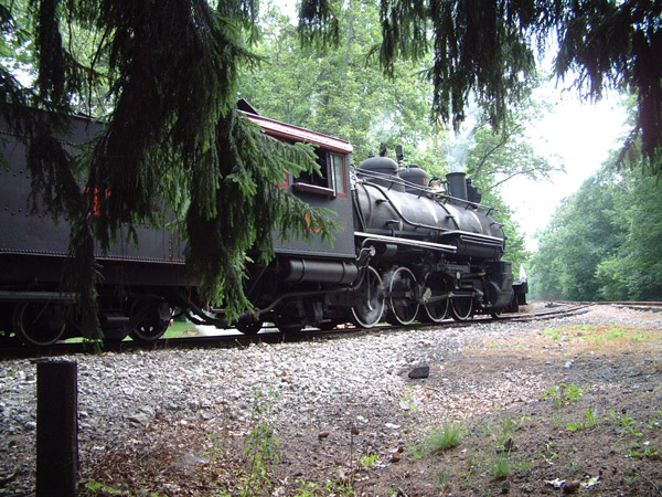 East Broad Top Railroad: Engine 15 resting at turn-around point.